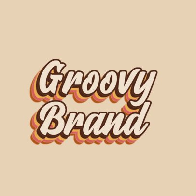 Groovy-Styled Logo Generator with Retro Typeface 3030d
