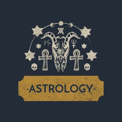 Clothing Brand Logo Maker Featuring Astrology Sign Graphics 3079