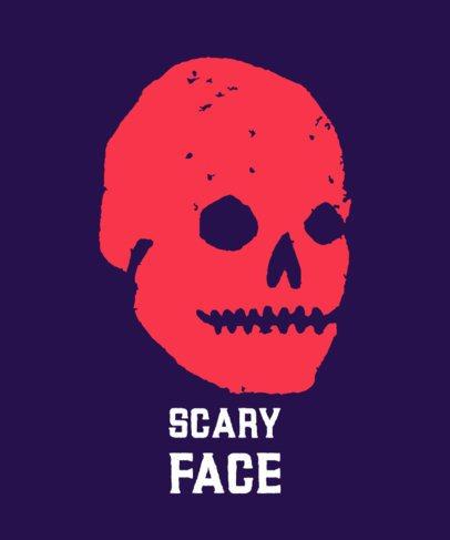 T-Shirt Design Creator Featuring a Stencil-Like Creepy Face 722a-el1
