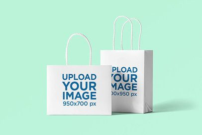 Mockup Featuring Two Different Size Gift Bags 3481-el1