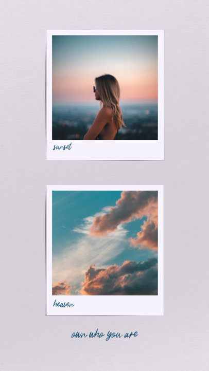 Instagram Story Design Template with a Minimalistic Aesthetic 694c-el1