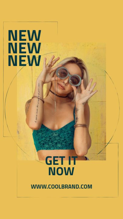 Bold Instagram Story Generator for a Clothing Brand's New Season 712b-el1