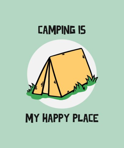 T-Shirt Design Template with a Camping Tent Illustration 725b-el1