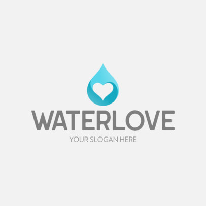 Logo Maker with the Icon of a Heart-Shaped Drop of Water 645a-el1