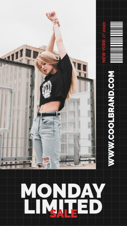 Bold Instagram Story Template for a Limited Fashion Sale 705b-el1