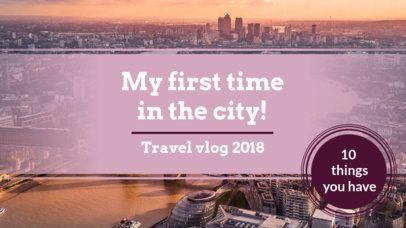 Travel-Themed YouTube Thumbnail Maker for a Vlog 897d