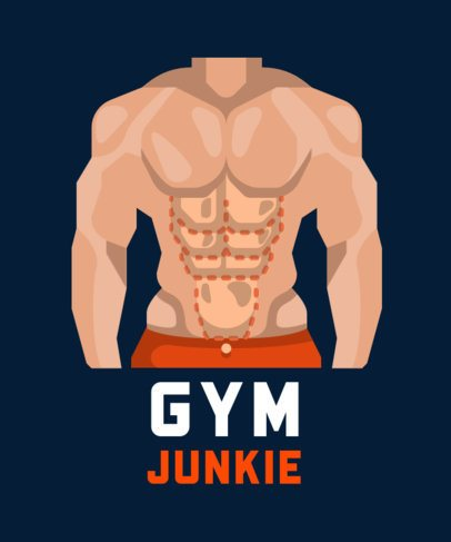 Sports T-Shirt Design Maker for Gym Junkies 710-el1
