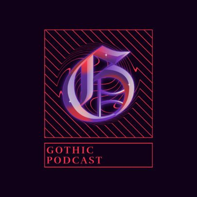 Modern Logo Generator for a Gothic Podcast 3085g
