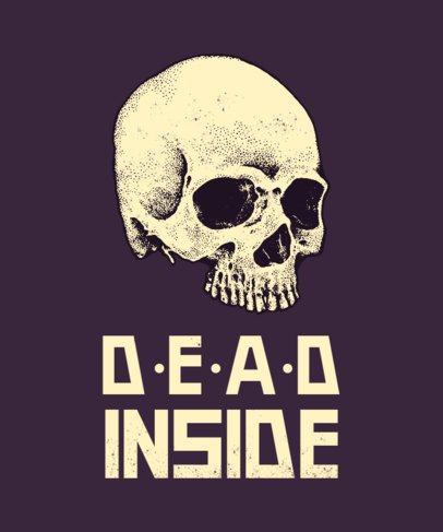 Spooky T-Shirt Design Maker Featuring a Skull Icon 716d-el1