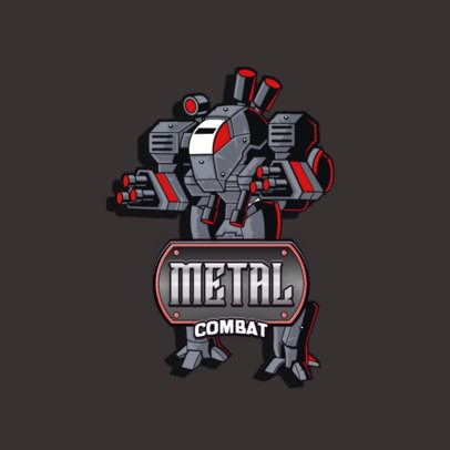 Titanfall-Themed Logo Maker Featuring a Fighting Robot Illustration 3092c