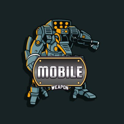 Titanfall-Inspired Logo Generator Featuring a Mecha Robot Clipart 3092d