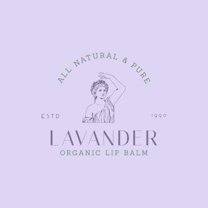 Minimalist Beauty Brand Logo Maker with a Female Greek Statue Graphic 3086f