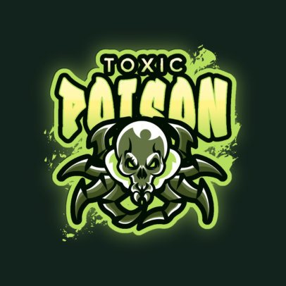Gaming Logo Generator Featuring a Toxic Skull-Headed Spider 3083b