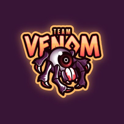 Logo Creator for a Gaming Squad with a Venomous Spider Graphic 3083c
