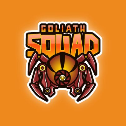 Gaming Logo Template with a Goliath Spider Graphic 3083d
