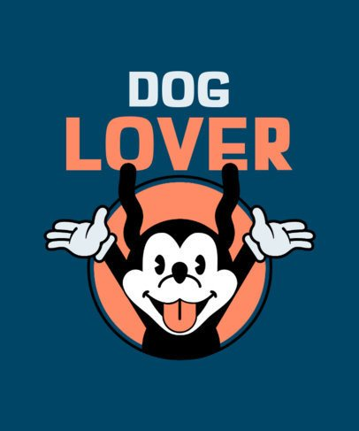 Retro T-Shirt Design Creator with a Screaming Dog Cartoon 2399d