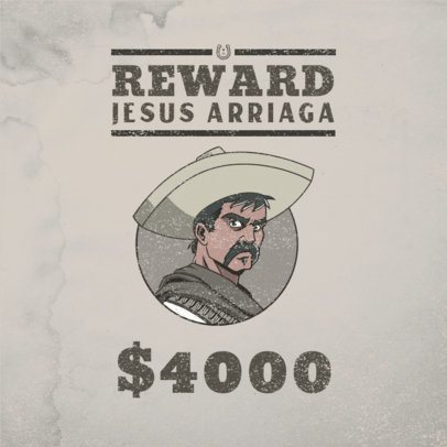 Gaming Logo Maker Featuring a Western Wanted Sign Style 3091a