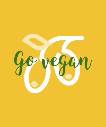 T-Shirt Design Maker with Vegan Quotes 23d