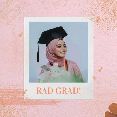 Minimal Instagram Post Design Maker for Graduation Day 2431q