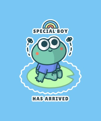 Illustrated T-Shirt Design Creator with a Funny Frog 827b