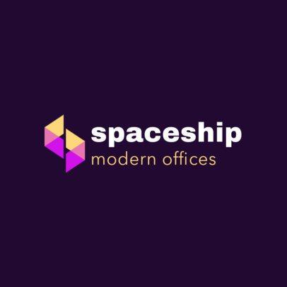 Logo Maker Featuring Semitransparent Geometric Shapes 3117c