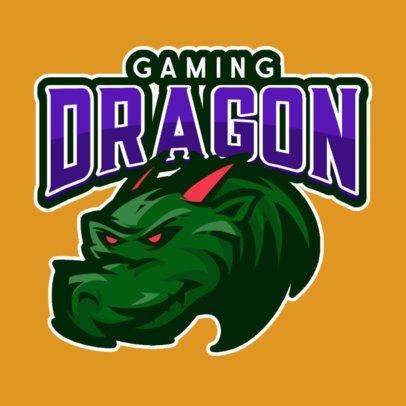 Online Logo Generator featuring a Dragon Clipart for a Gaming Team 833d-el1