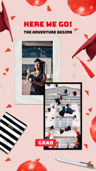 Instagram Story Maker with Instant Photo Frames for a Graduation Day Celebration 2430h