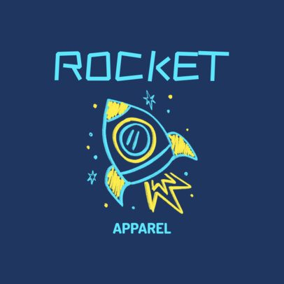 Logo Generator for a Kids Clothing Brand With a Spaceship Doodle 3116g
