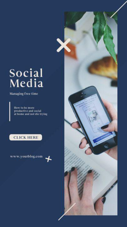 Instagram Story Creator with Social Media-Consumption Tips 809a-el1