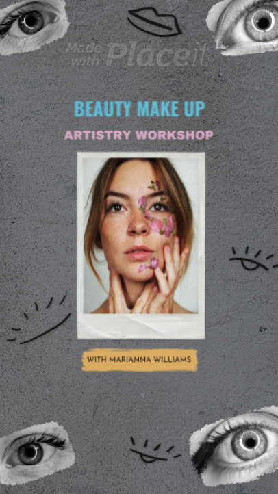 Instagram Story Video Maker for a Makeup Brand with Minimalist Drawings 849