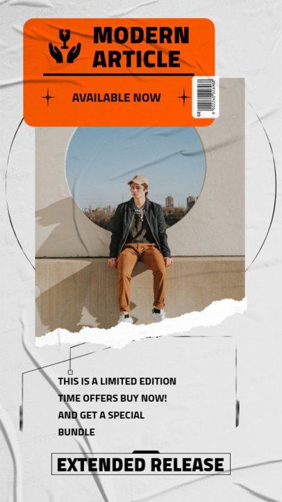 Scrap Instagram Story Maker Featuring Urban Clothing Brand Promos 819-el1