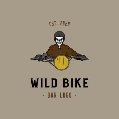 Online Logo Maker for a Motorcycle Bar 776-el1