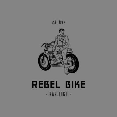 Bar Logo Maker Featuring a Rebel Biker 776b-el1