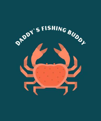 Fishing T-Shirt Design Maker Featuring a Crab Clipart 755a-el1