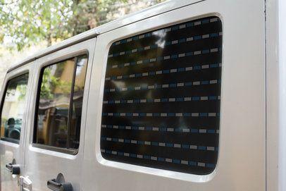 Window Decal Mockup Featuring an All-Terrain Truck 33258