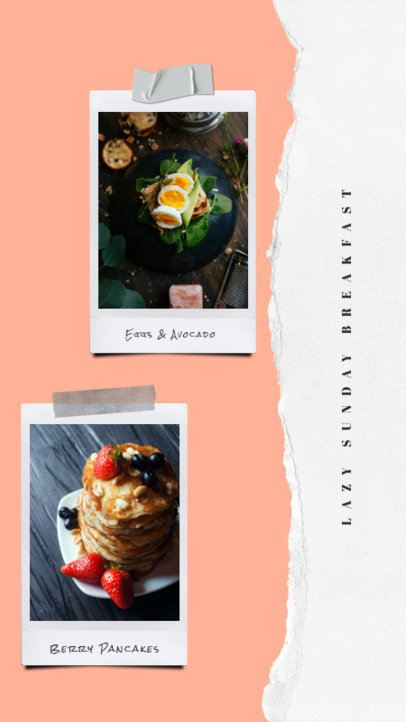 Instagram Story Maker with a Two Instant Pictures Display 823a-el1