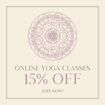 Instagram Post Creator for a Yoga Class Discount Announcement 744a-el1