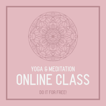 Instagram Post Maker for an Online Meditation Class 744c-el1