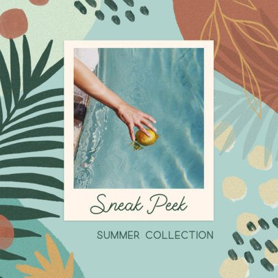 Instagram Post Creator for a Beauty Brand Summer Collection 2439b