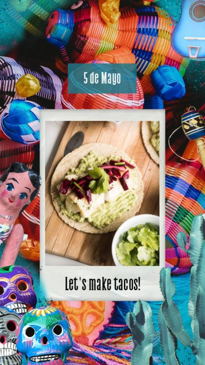 5 de Mayo-Based Instagram Story Template with Mexican Items 2436i