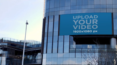 Video of a Billboard on a Modern Building 32968