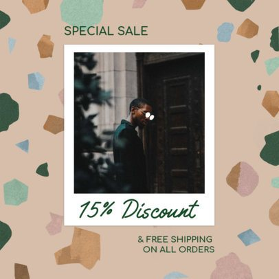 Instagram Post Design Template with an Abstract Layout for a Special Sale 2439f