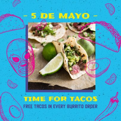 Instagram Post Generator Featuring 5 de Mayo Recipes 2437b