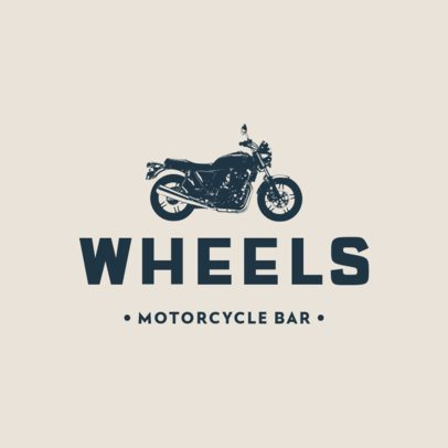 Bikers Bar Logo Template Featuring Motorcycle Icons 778-el1