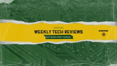 YouTube Banner Maker for Techy Content  2444g