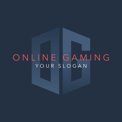 Placeit Online Gaming Logo Generator With A Monogram Graphic
