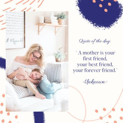 Mother's Day-Themed Instagram Post Template Featuring Colorful Frames 2452