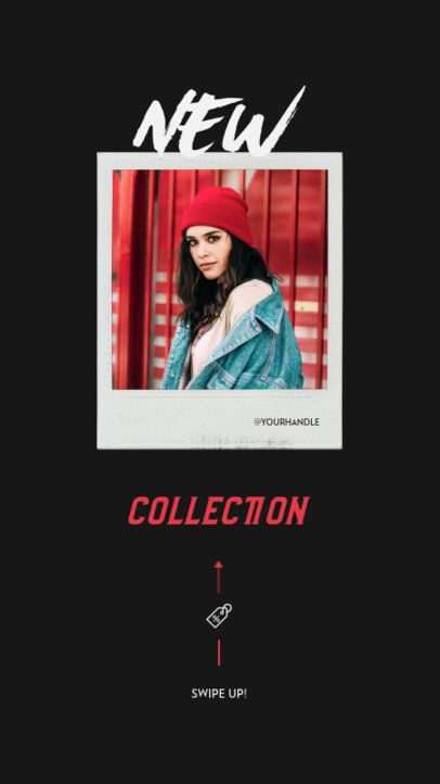 Minimalistic Instagram Story Maker for Clothing Brands Featuring Instant Picture Frames 932-el1