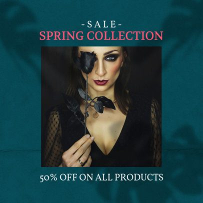 Instagram Post Maker for a Spring Collection Sale Featuring a Shadow Background 2456bb