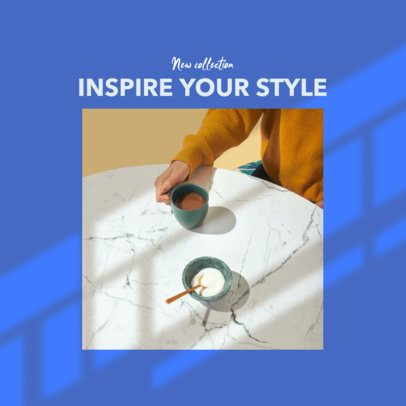 Modern Instagram Post Template for a New Collection Post with a Square Picture 2456gg